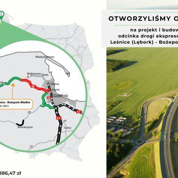 Pomorskie. Wpłynęły oferty na projekt i budowę odcinka drogi S6 Bożepole Wielkie-Leśnice