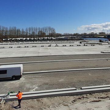 Świnoujście: budowa nowego parkingu dla ciężarówek jest już na półmetku