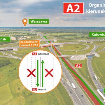 Autostrada A1/A2: od poniedziałku kolejne utrudnienia w ruchu. O co dokładnie chodzi?