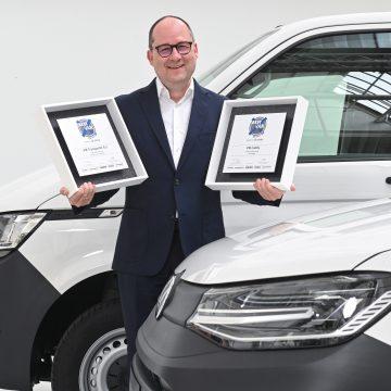 Volkswagen Caddy Cargo i Transporter 6.1 z nagrodą najlepszych vanów 2021 roku!